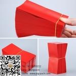 ซองฟอยล์เนื้อด้านขยายข้างสีแดง (หนาพิเศษ) 5x9.5+2 cm. 100 ชิ้น : 005054