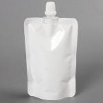 ถุงซองพลาสติกสีขาวแบบมีฝาปิดด้านบนตั้งได้ 8x12+2 cm. (100 ml.) 100 ชิ้น : 1H004980