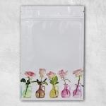 ซองซิปลายดอกกุหลาบในแจกัน 9x11 cm. 100 ชิ้น : V004541