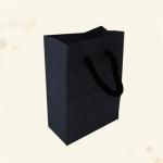 ถุงซองคราฟขยายข้างตั้งได้สีดำลายตารางนูนมีเชือกหิ้ว 8x11+4 cm. 50 ชิ้น : 1E004823
