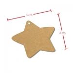 ป้ายแขวนดาวสีน้ำตาล 5x4.5 cm. 100 ชิ้น : A004651