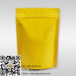 ซองซิปฟอยล์เนื้อด้านตั้งได้สีเหลือง 13x18+3 cm. 100 ชิ้น : 005287