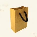 ถุงซองคราฟขยายข้างตั้งได้สีเหลืองลายตารางนูนมีเชือกหิ้ว 8x11+4 cm. 50 ชิ้น : 1E004824
