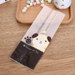 ถุงซองพลาสติกขุ่นขยายข้างลายการ์ตูนหมี 8.5x23+5.5 cm. 100 ชิ้น : Y004780