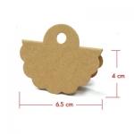 หัวถุงสีน้ำตาล 4x6.5 cm. 50 ชิ้น : A004647
