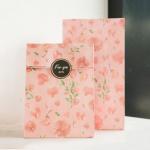 ซองกระดาษขยายข้างสีชมพูลายดอกไม้ 13x23+7.8 cm. 90 ชิ้น : U004774