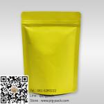 ซองซิปฟอยล์เนื้อด้านตั้งได้สีเหลืองอมเขียว 13x18+3 cm. 100 ชิ้น : 005285