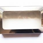 กล่องกระดาษทรงสี่เหลี่ยมผืนผ้าสีฟอยล์เงินโชว์หน้าสินค้า ขนาด 22x12x4 cm. 50 ชิ้น รหัสสินค้า: 005666