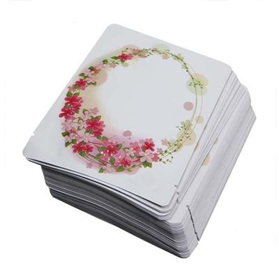 ซองฟอยล์ลายวงรีดอกไม้ 9x13 cm. 100 ชิ้น : 1A004544