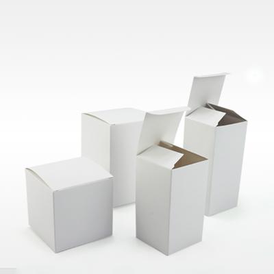 กล่องกระดาษปิดบนล่างสีขาว 100 ชิ้น (คลิกเพื่อเลือกขนาด)