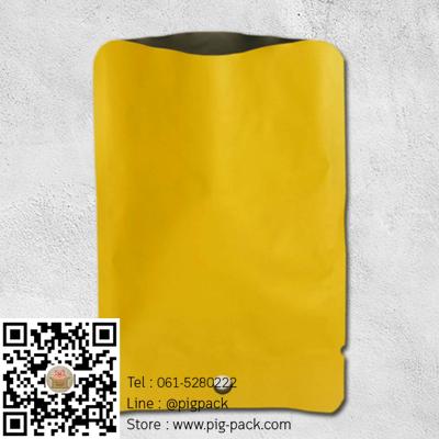 ซองฟอยล์เนื้อด้านสีเหลืองมีรูแขวน 10x14 cm. 100 ชิ้น : L004668