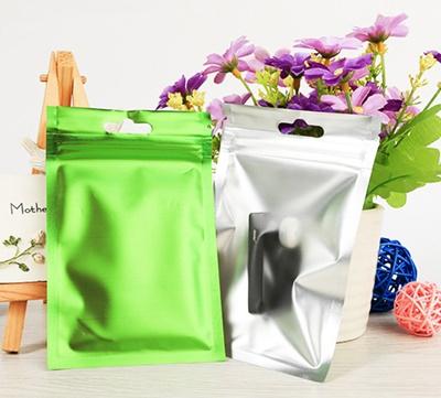 ซองซิปหน้าขุ่นหลังสีเขียว 10x18 cm. 50 ชิ้น : B004652