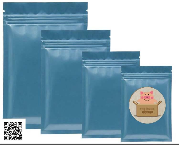 ซองซิปล็อคสีน้ำเงิน 100 ชิ้น (คลิกเพื่อเลือกขนาด)