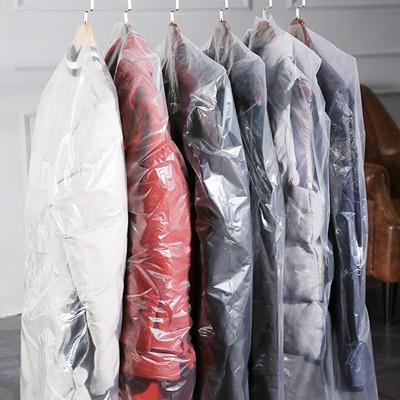 ถุงพลาสติกใสคลุมเสื้อผ้า 50 ชิ้น (คลิกเพื่อเลือกขนาด)