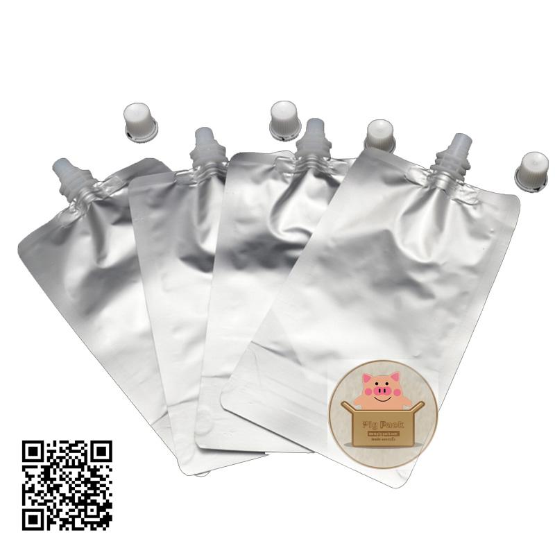 ถุงซองพลาสติกสีเงินแบบมีฝาปิดด้านบน(แบบซีลปิดก้น) (คลิกเพื่อเลือกขนาด)