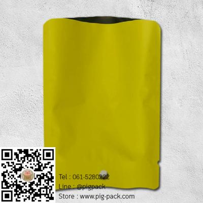 ซองฟอยล์เนื้อด้านสีเหลืองอมเขียวมีรูแขวน 10x14 cm. 100 ชิ้น : L004670