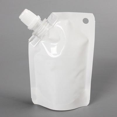 ถุงซองพลาสติกสีขาวแบบมีฝาปิดด้านข้างตั้งได้ 7x10+2 cm. (50 ml.) 100 ชิ้น : 1H004979