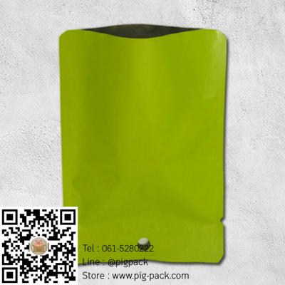 ซองฟอยล์เนื้อด้านสีเขียวมีรูแขวน 10x14 cm. 100 ชิ้น : L004669