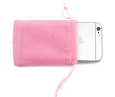 ถุงผ้ากำมะหยี่มีเชือกรูดสีชมพู 10x8 cm. 50 ชิ้น : A004602