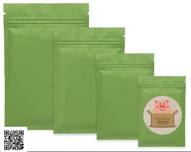 ซองซิปล็อคสีเขียว (คลิกเพื่อเลือกขนาด)