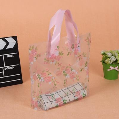 ถุงกระเป๋าใสตั้งได้ลายดอกกุหลาบ 30x25+6 cm. 50 ชิ้น : F004643