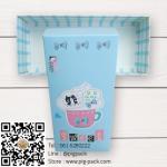 กล่องกระดาษแบบฝาปิดสีฟ้าลายการ์ตูนแมว Sweet Flying Dream 17.5x8x4.5 cm. 20 ชิ้น : S004734