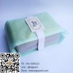 ถุงซองเยื่อกระดาษขยายข้างสีฟ้า 100 ชิ้น (คลิกเพื่อเลือกขนาด)