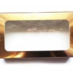 กล่องกระดาษทรงสี่เหลี่ยมผืนผ้าสีฟอยล์ทองโชว์หน้าสินค้า ขนาด 22x12x4 cm. 50 ชิ้น รหัสสินค้า: 005663
