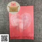 ซองพลาสติกสีชมพู ลายหัวใจดอกไม้ ขนาด 10x15 cm. 100 ชิ้น รหัสสินค้า : 005698