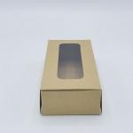 กล่องกระดาษทรงสี่เหลี่ยมผืนผ้าสีวอลนัท-บราวน์ โชว์หน้าสินค้า ขนาด 8x10x20 cm. 50 ชิ้น รหัสสินค้า: 005665