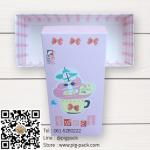 กล่องกระดาษแบบฝาปิดสีชมพูลายการ์ตูนแมว Sweet Flying Dream 17.5x8x4.5 cm. 25 ชิ้น : S004733