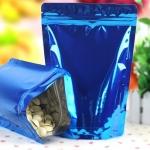 ซองถุงฟอยล์สีน้ำเงินตั้งได้ ขนาด 14x20+4cm 100ชิ้น 005855
