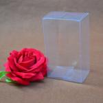กล่องสี่เหลี่ยมพลาสติกใส pvc 100 ชิ้น (คลิกเพื่อเลือกขนาด)