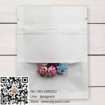 ถุงซองซิปกระดาษสีขาวมีช่องสี่เหลี่ยมโชว์สินค้า 7x9 cm. 100 ชิ้น : 005246