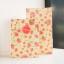 ซองกระดาษขยายข้างสีครีมลายดอกไม้สีชมพู 13x23+7.8 cm. 90 ชิ้น : Z004775