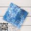 ถุงซองฟอยล์สีฟ้าลายดอกไม้ใส่ Tester ครีม 100 ชิ้น (คลิกเพื่อเลือกขนาด)