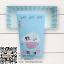 กล่องกระดาษแบบฝาปิดสีฟ้าลายการ์ตูนแมว Sweet Flying Dream 17.5x8x4.5 cm. 25 ชิ้น : S004734