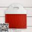 ถุงหูหิ้วสีแดงขาว 25x23 cm. 50 ชิ้น : 004799