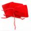 ถุงผ้ากำมะหยี่มีเชือกรูดสีแดง 10x8 cm. 50 ชิ้น : A004603
