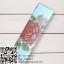 กล่องกระดาษปิดบนล่างสีขาวลายดอกไม้สีส้มแดง 2.5x2.5x8.5 cm. 50 ชิ้น : 1F005005