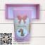 กล่องกระดาษแบบฝาปิดสีชมพูลายการ์ตูนยีราฟ Welcome Baby 17.5x8x4.5 cm. 25 ชิ้น : S004736