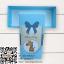 กล่องกระดาษแบบฝาปิดสีฟ้าลายการ์ตูนยีราฟ Welcome Baby 17.5x8x4.5 cm. 20 ชิ้น : S004735