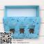 กล่องกระดาษแบบฝาปิดสีฟ้าลายการ์ตูนมีช่องโชว์สินค้ารูปหมี 17.5x11.5x4 cm. 25 ชิ้น : S004731