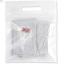 ถุงซองซิปเลื่อนหน้าใสด้านหลังเป็นผ้ามีรูแขวนสีขาว 20x18+5 cm. 50 ชิ้น : Q004696