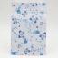 ซองซิปลายดอกไม้สีฟ้าพื้นหลังสีขาว 100 ชิ้น (คลิกเพื่อเลือกขนาด)