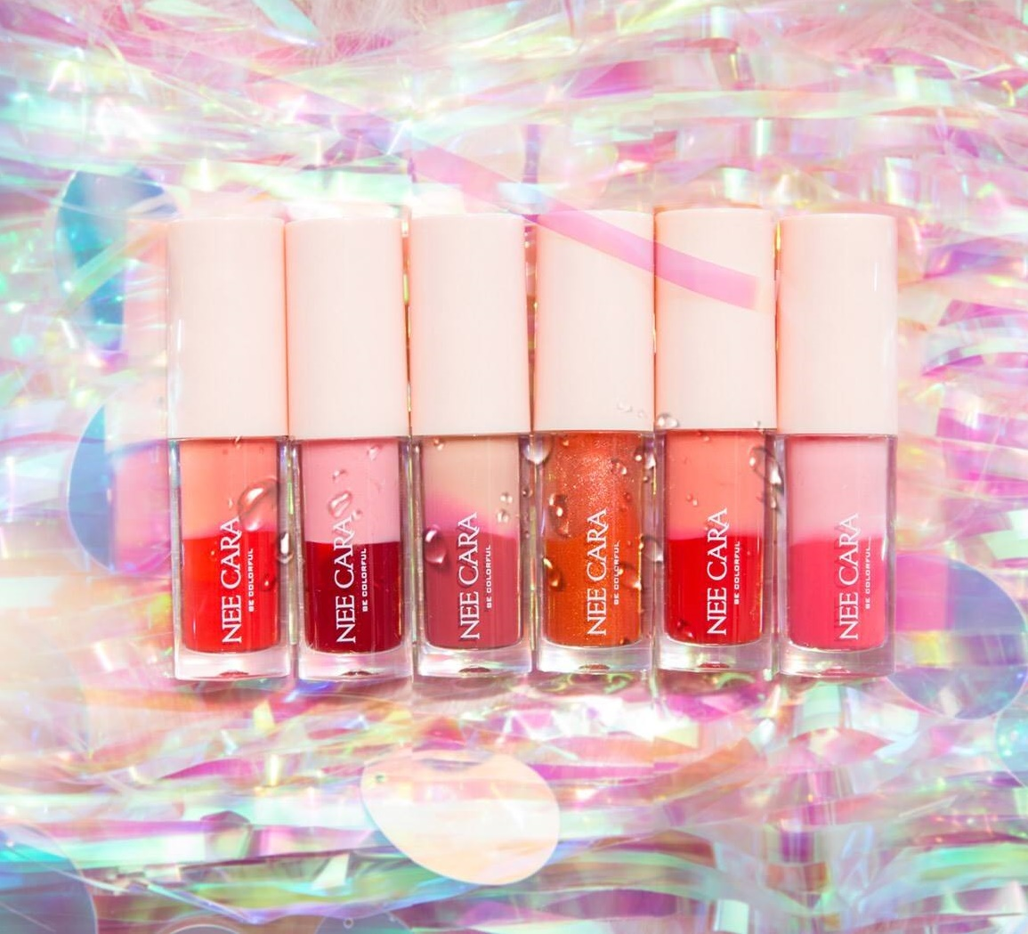 Lipstick Cara รหัสสินค้า Nee ลิปสติกเนื้อชิมเมอร์ Lt 2 Tone Liquid 28