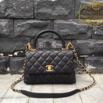 Chanel coco mini Handle Bag สีดำ หูดำ งานHiend Original